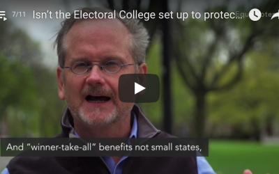 Isn't the Electoral College set up to protect smaller states? Wouldn't this plan undermine that protection?