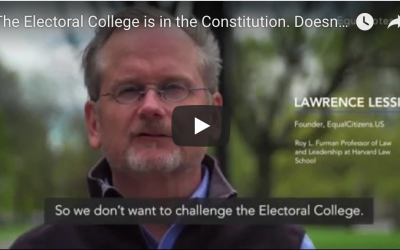 The Electoral College is in the Constitution. Doesn't that make it constitutional?