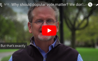 Why should popular vote matter? We don't have a democracy; we have a republic.