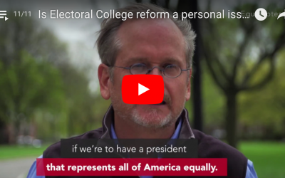 Is Electoral College reform a personal issue to you?